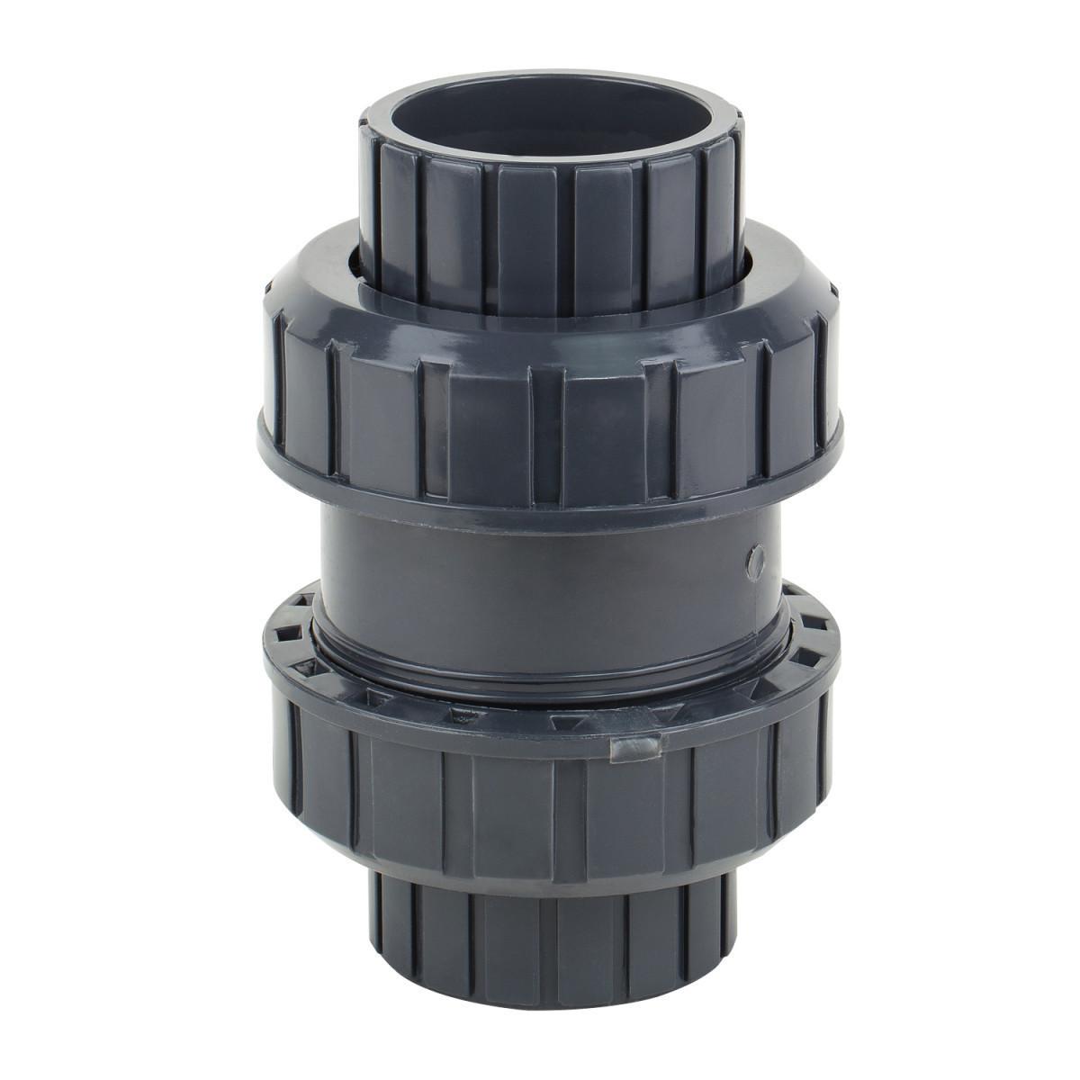 Обратный клапан шаровый ERA, ПВХ,  диаметр 63 мм.