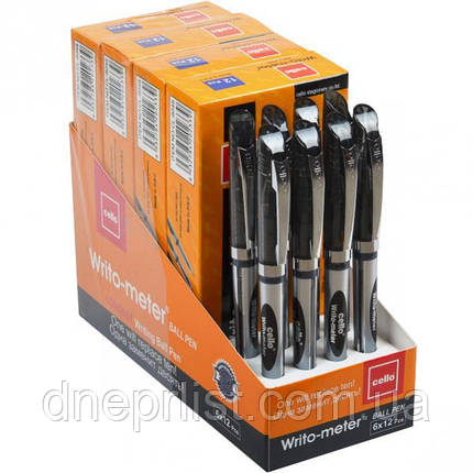 Ручка масляная Writo-meter 10км, черная /Cello, фото 2