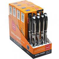 Ручка масляная Writo-meter 10км, черная /Cello