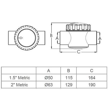 Обратный клапан Emaux V40-1 (E) 50 мм., фото 2