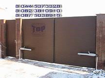 Распашные ворота TOR.R.ROL-G зашив роллетным профилем ламель горизонтально
