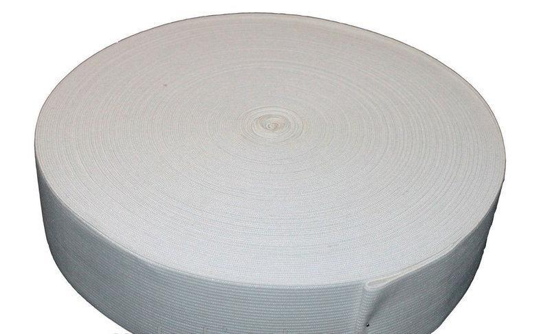 Резинка ПЭ белая 40мм 25м