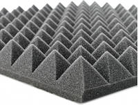 """Акустический поролон """"Пирамида"""". Черный Графит 50 мм"""