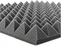 """Акустический поролон """"Пирамида"""". Черный Графит 70 мм"""
