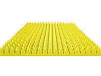 "Акустический поролон ""Пирамида средняя"". Желтый 50 мм"