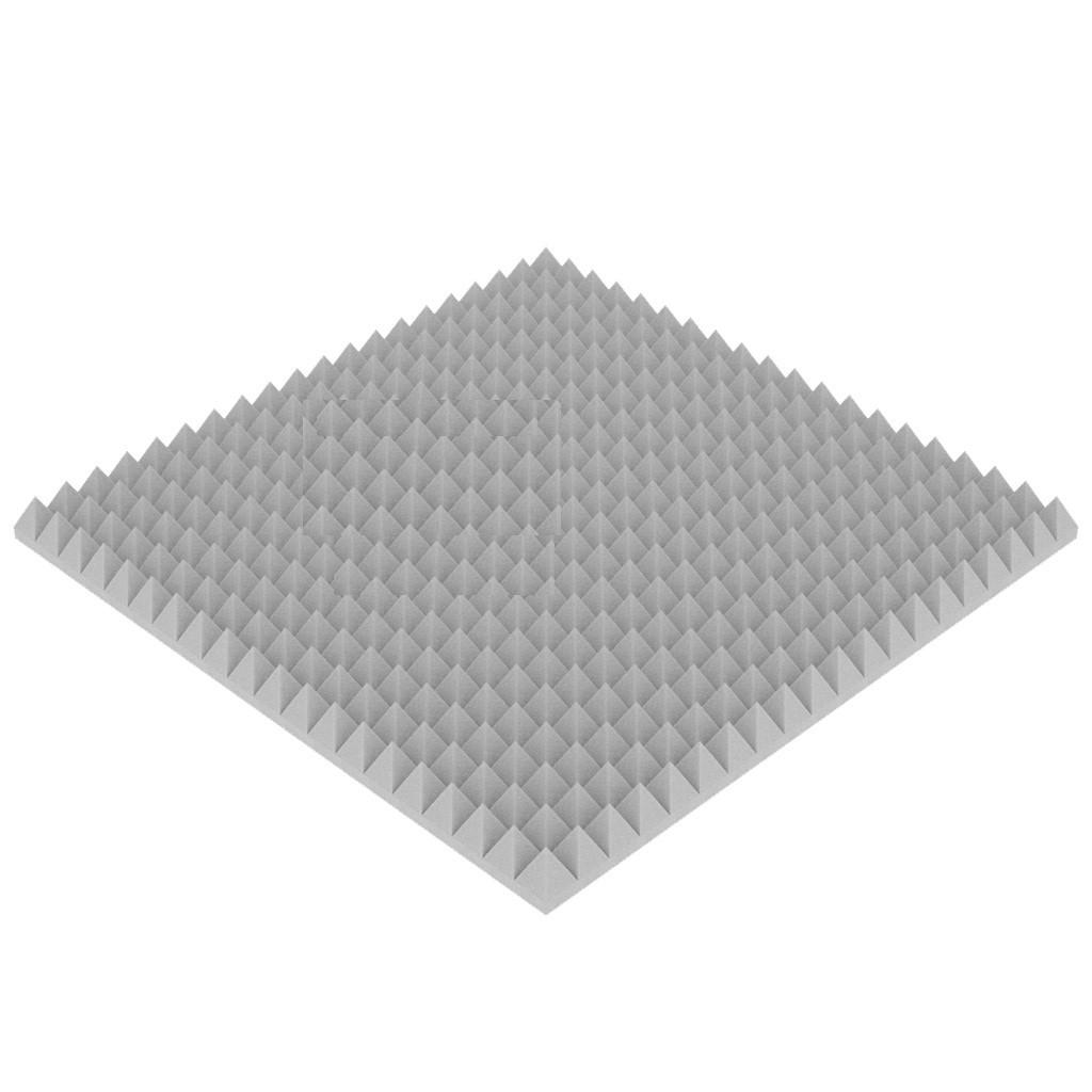 """Акустический поролон """"Пирамида средняя"""". Серый 50 мм"""