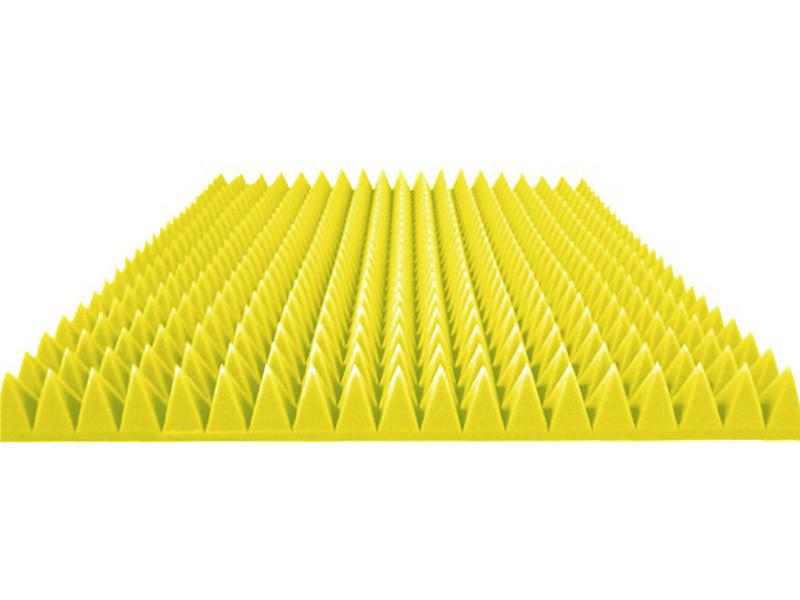 "Акустический поролон ""Пирамида средняя"". Желтый 70 мм"