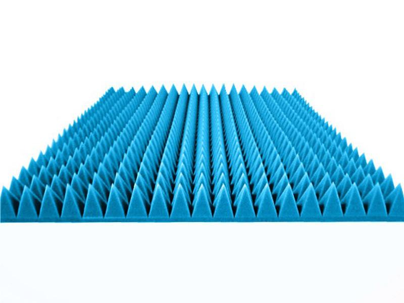 "Акустический поролон ""Пирамида средняя"". Св.Синий 70 мм"
