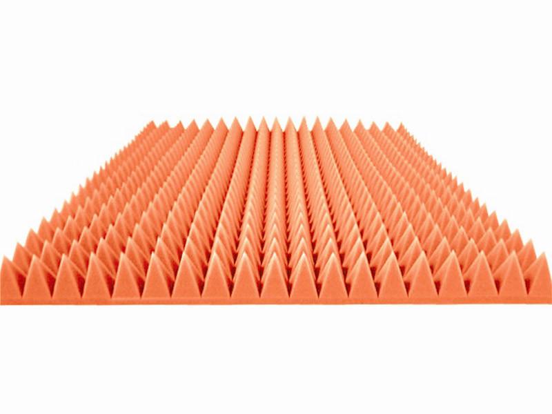 """Акустический поролон """"Пирамида средняя"""". Оранжевый 70 мм"""