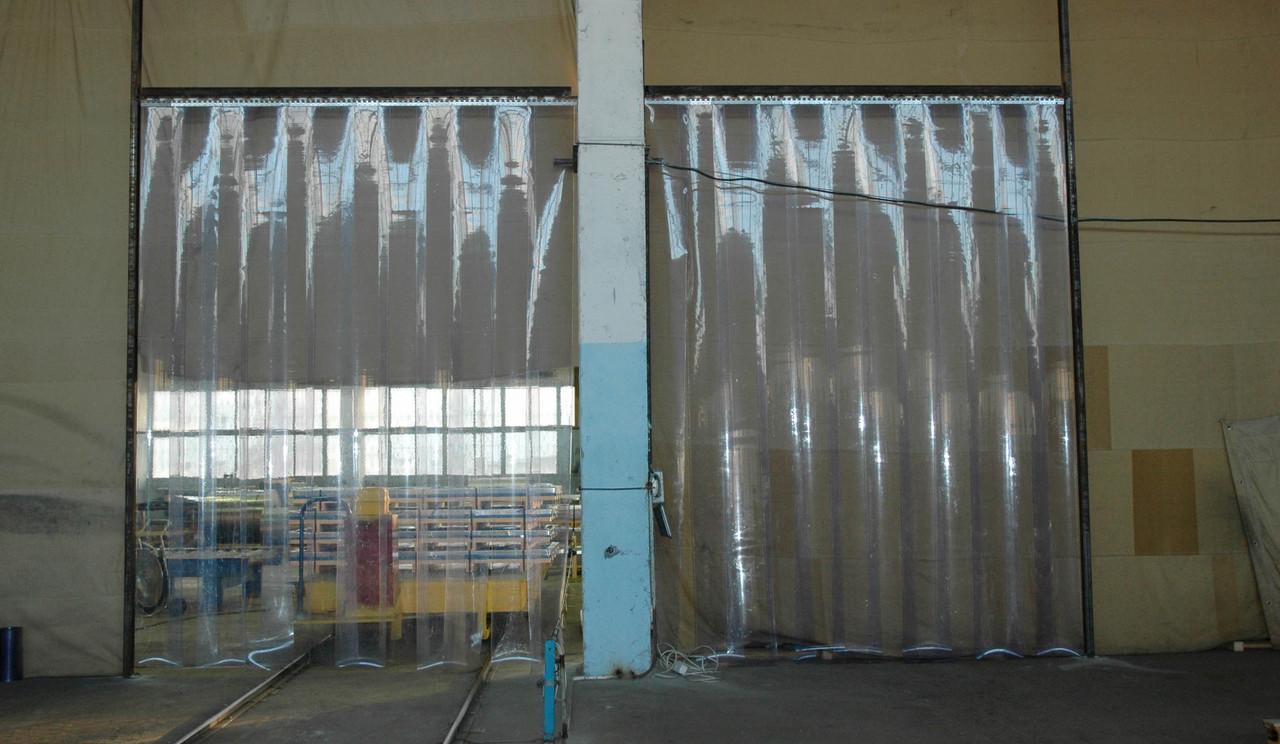 ПВХ завесы для склада, ленточные пвх завес