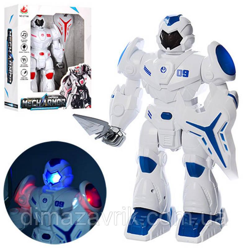 Робот 2716627 см, звук, свет, ходит, 2 цвета, на бат-ке, в коробке25-31-10 см