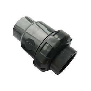 Обратный клапан шаровый ПВХ Aquaviva, диаметр 90 мм., фото 2