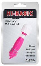 Клиторальный стимулятор Mini AV Massage, розовый, фото 3