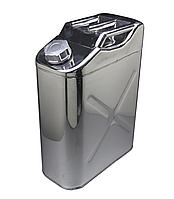 Канистра металлическая для топлива 20 литров хром