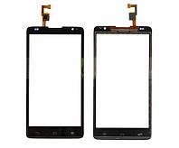 Сенсорный экран (тачскрин) Huawei Ascend G615 чёрный ориг. к-во