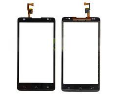 Сенсорный экран (тачскрин) Huawei Ascend G615 чёрный orig