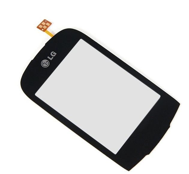 Сенсорный экран (тачскрин) LG T500 | T510 | T515 чёрный high copy