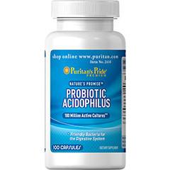 Puritan's Pride, Probiotic Acidophilus, Ацидофилус 100 капс.