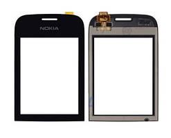 Сенсорный экран (тачскрин) Nokia 202 Asha | 200 чёрный orig