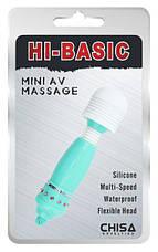 Клиторальный вибратор Mini AV Massage, бирюзовый, фото 2