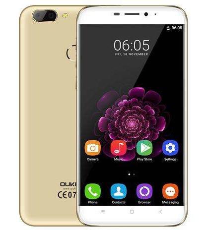 "Смартфон Oukitel U20 Plus 2/16Gb Gold, 2sim, 5.5"" IPS, 13/5Мп, 3300mAh, 4G, 4 ядра"
