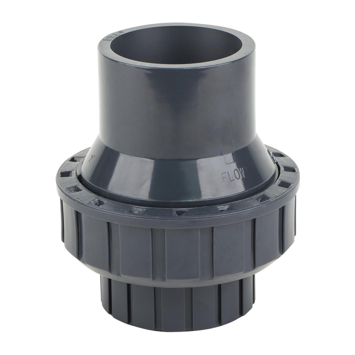Обратный клапан ПВХ ERA пружинный, диаметр 50 мм.