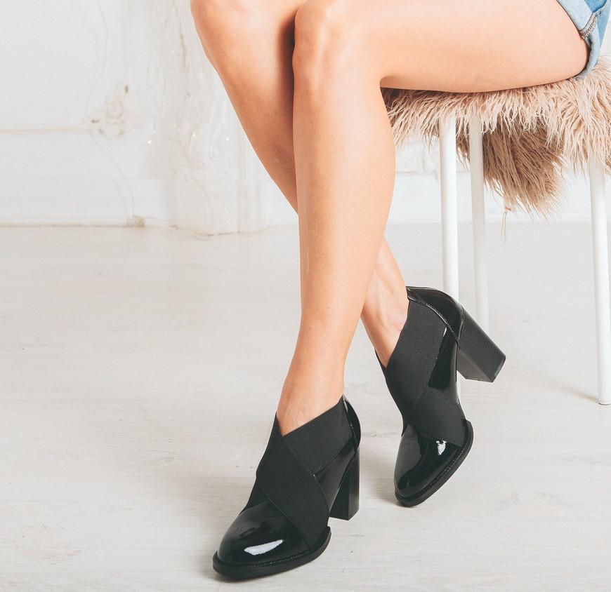 e645e7f3d5f7 Ботильоны туфли женские демисезонные на резинках и удобном каблуке ...