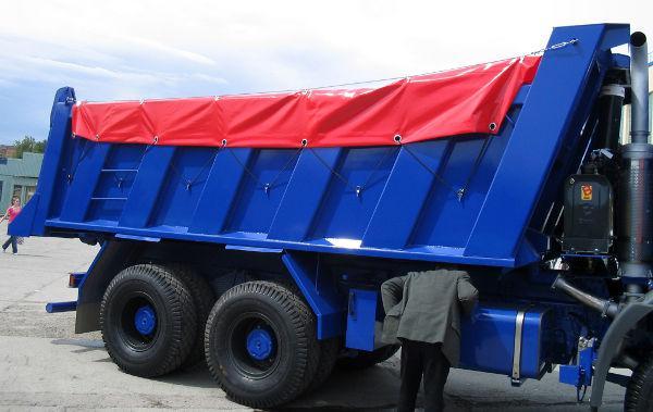 Тент на самосвал - полог на грузовик КАМАЗ Накидка на самосвал! Пошив и ремонт ПВХ