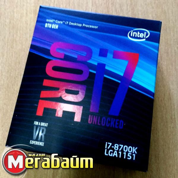 Процессор Intel Core i7 8700K 3.7GHz (12MB, Coffee Lake, 95W, S1151) Box (BX80684I78700K) no cooler