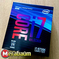 Процессор Intel Core i7 8700K 3.7GHz (12MB, Coffee Lake, 95W, S1151) Box (BX80684I78700K) no cooler