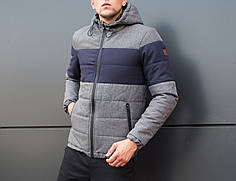 "Мужская куртка Jacket ""Zatoka "" Gray-Navy"