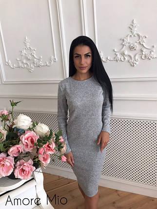 Модное зимнее женское платье, фото 2