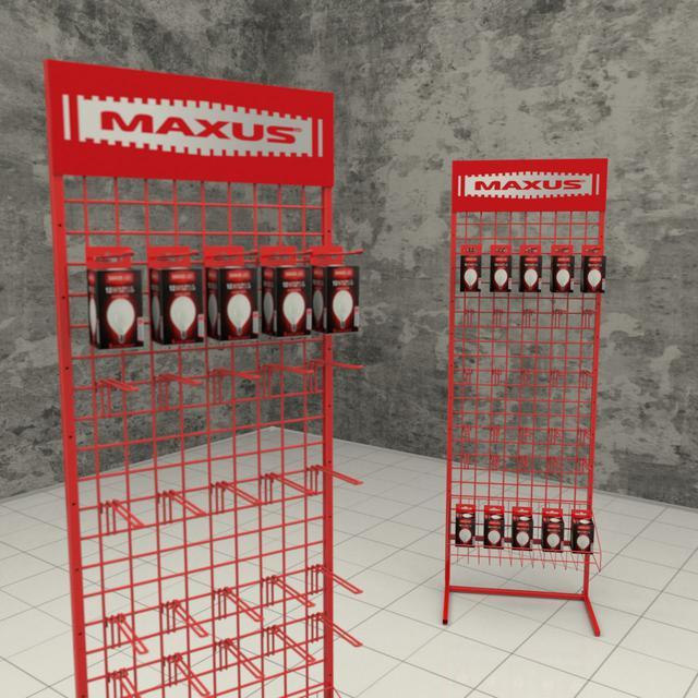 Торговые стойки с крючками для лампочек Максус на заказ