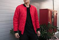 "Мужская стеганая куртка бомбер Jacket "" Progress "" Red"