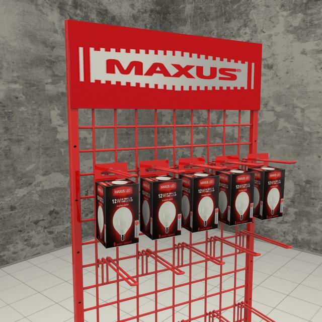 Рекламные торговая стойка Максус с крючками