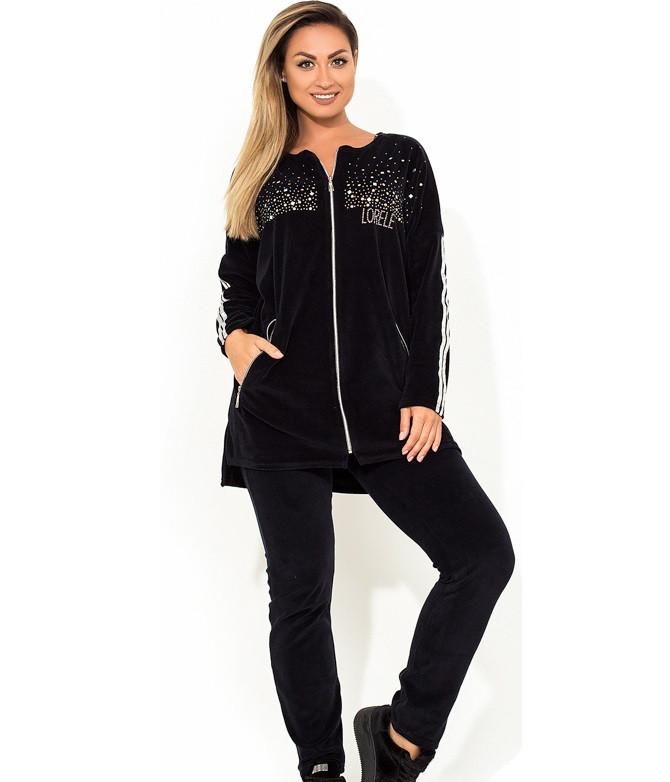 e624a6aad486 Модный спортивный костюм велюровый двухцветный размеры от XL 2195 - Lace  Secret - Магазин женского белья