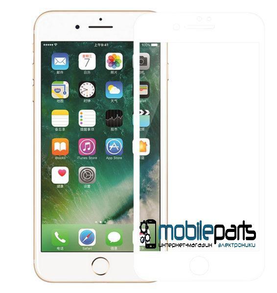 Защитное стекло для мобильного телефона iPhone 7 | 8 (0,25 мм, 3D) (Белое)(Тех.упаковка, без салфеток)