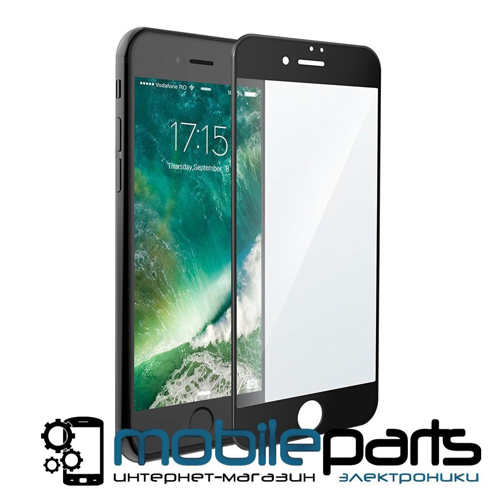 Защитное стекло для мобильного телефона iPhone 7   8 (0,25 мм, 3D) (Черное)(Тех.упаковка, без салфеток)