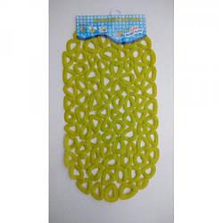 Силиконовый коврик в ванную 3-1-4 (хаки)