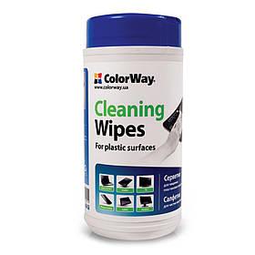 Чистящие салфетки ColorWay для очистки пластиковых поверхностей