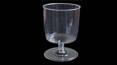 Пиала фуршетная на ножке круглая 190 мл., 230 шт/уп стеклоподобная, прозрачная