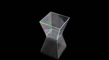 Пиала фуршетная квадратная 65 мл., 420 шт/ящ стеклоподобная, прозрачная
