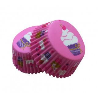 Форма бумажная для кексов розовая тарталетка 500 шт.