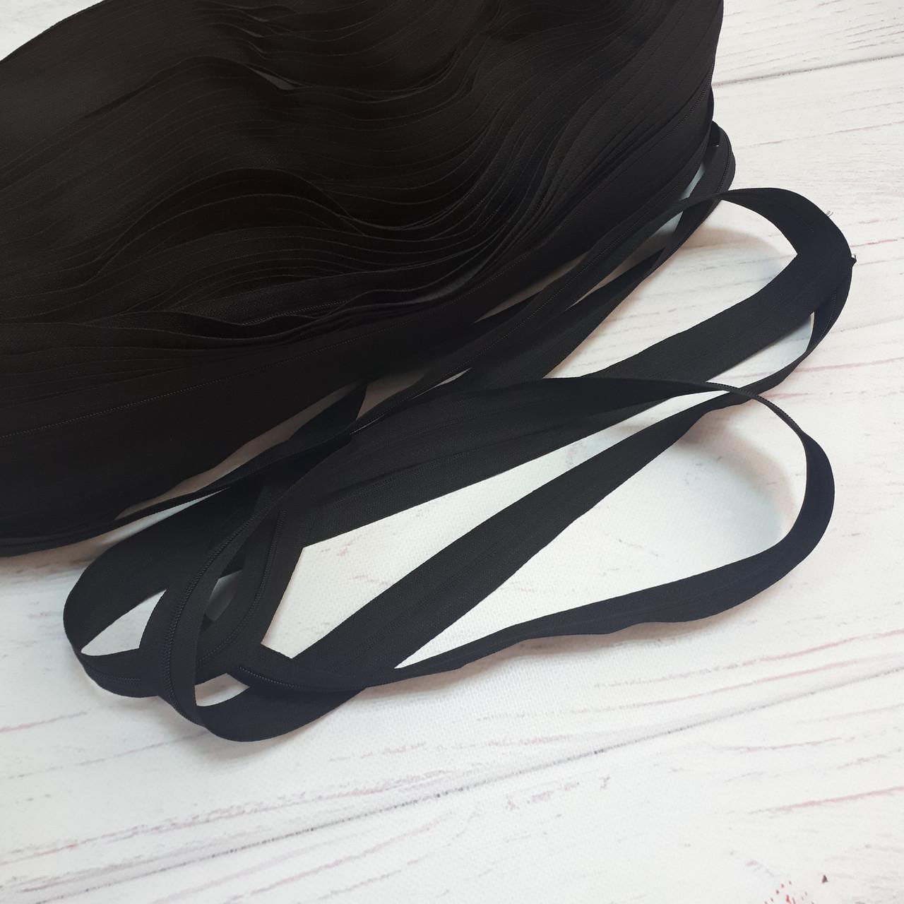 Молния рулонная черного цвета, Т3 (метражом и оптом)