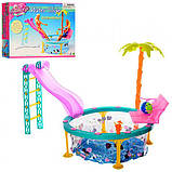 Кукольная мебель Gloria Глория 1678 Бассейн с горкой - мини аквапарк, фото 2