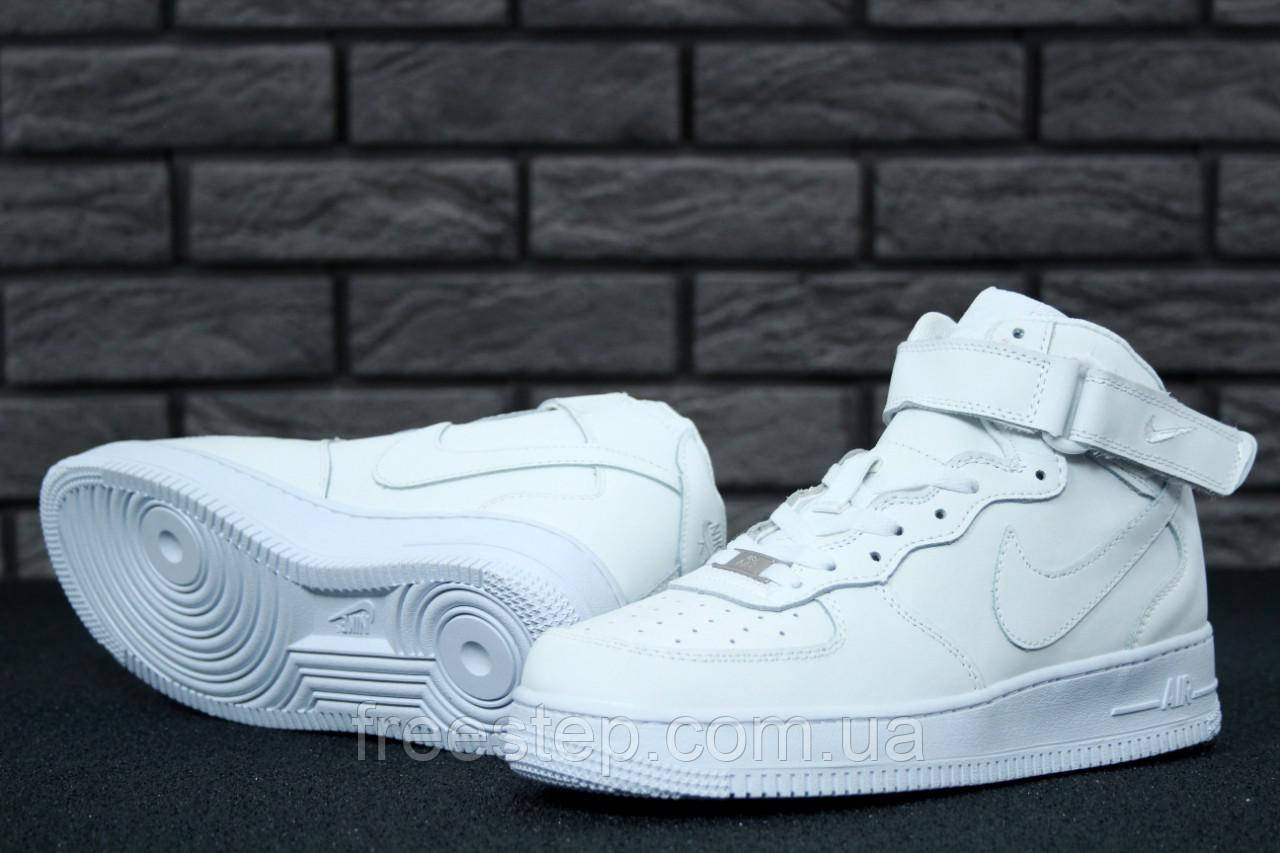 66d83594 Женские кроссовки в стиле NIKE Air Force 1 Mid, кожа, белые: продажа ...