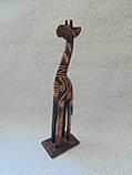 Статуэтка деревянная Жираф высота 30 см, фото 2