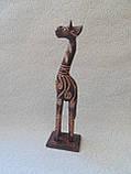 Статуэтка деревянная Жираф высота 30 см, фото 3