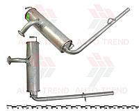 Глушитель основной ЗАЗ 1102, закатной, в сб. (с выпускной трубой)* (пр-во ТМК135)
