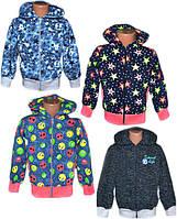 Куртка (кофта) детская на молнии 01072 для девочки, двунитка, р.р.28-38